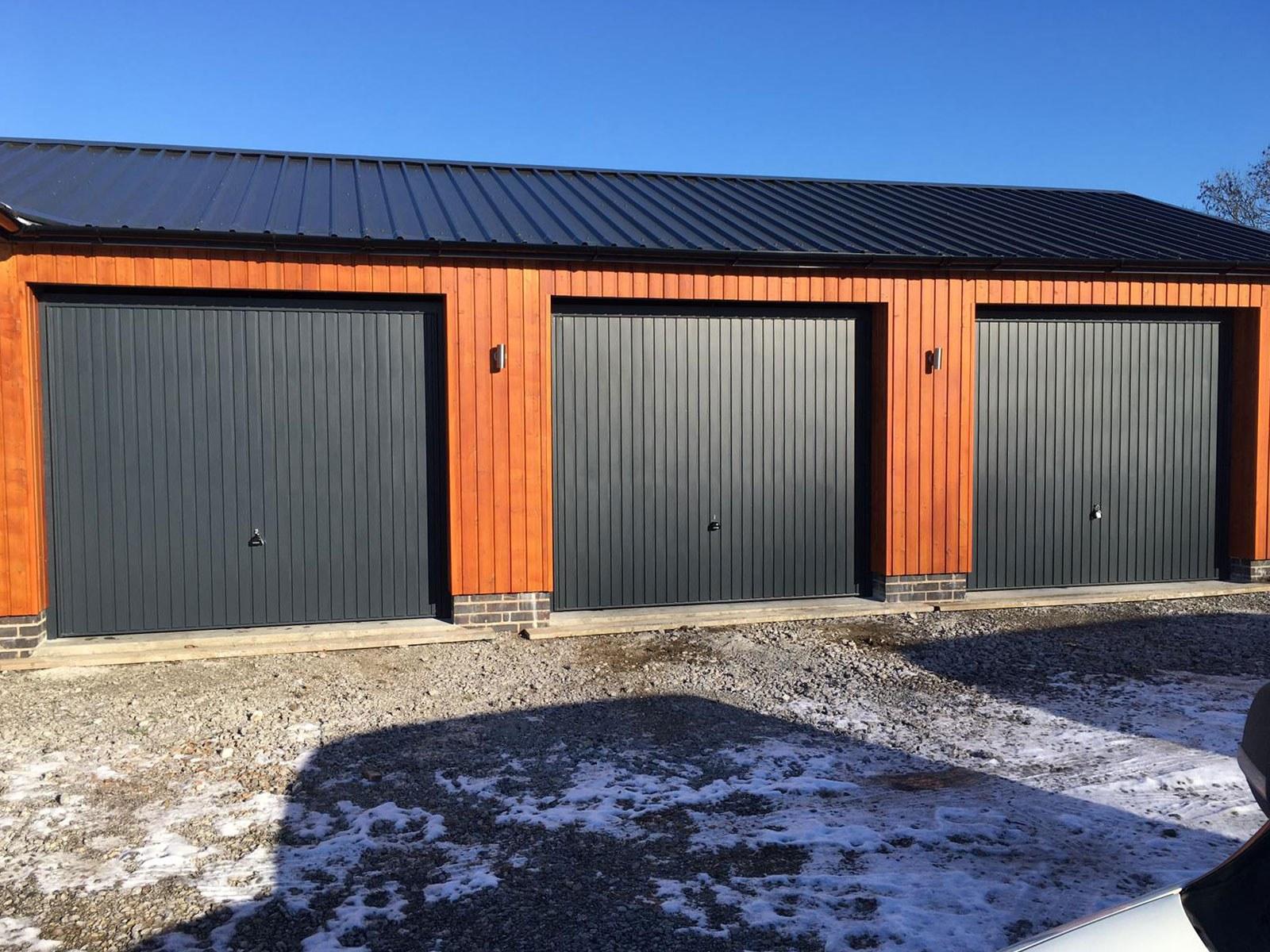 Anthracite Grey Carlton Steel Up & Over Garage Door, Bolton