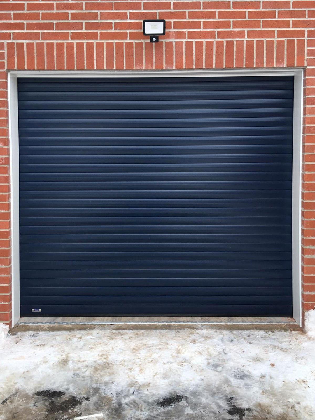 Blue Insulated Roller Garage Door, Bolton