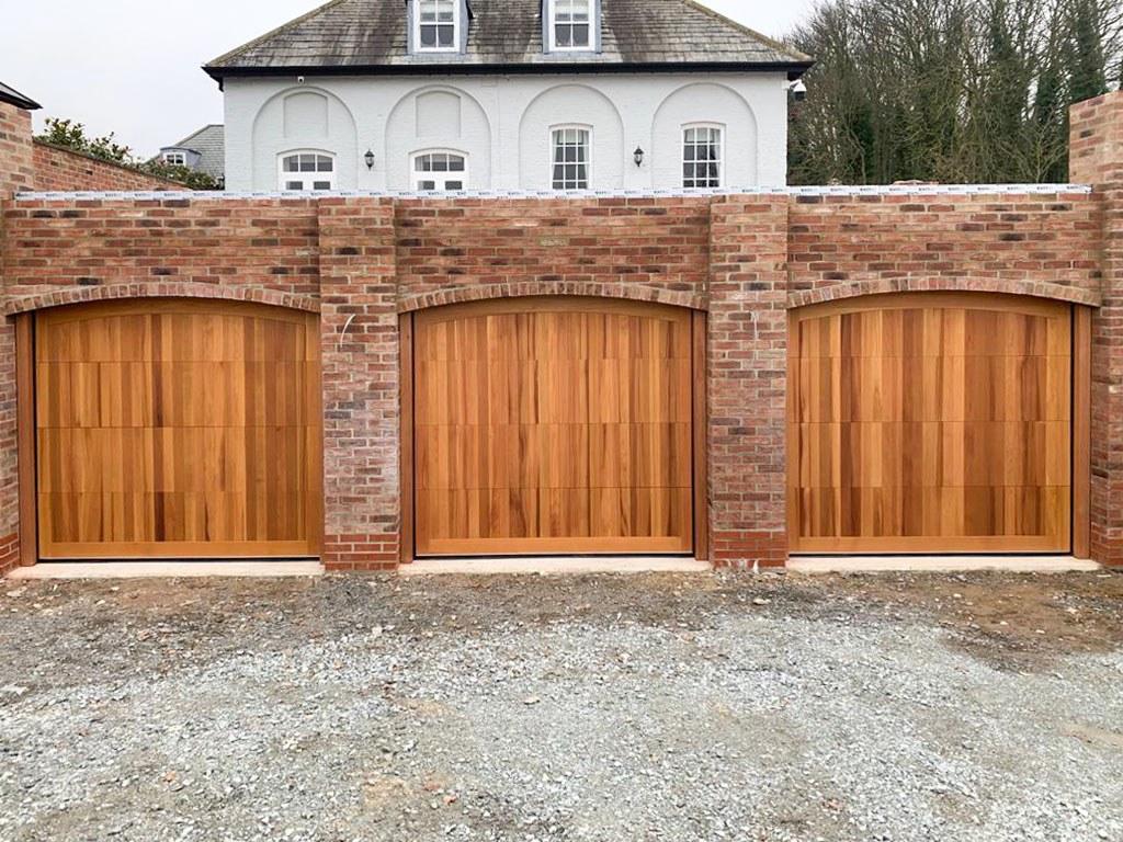 Cedar Timber Sectional Garage Doors, Warrington