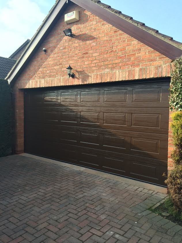 Georgian Brown Insulated Sectional Garage Door With Automation