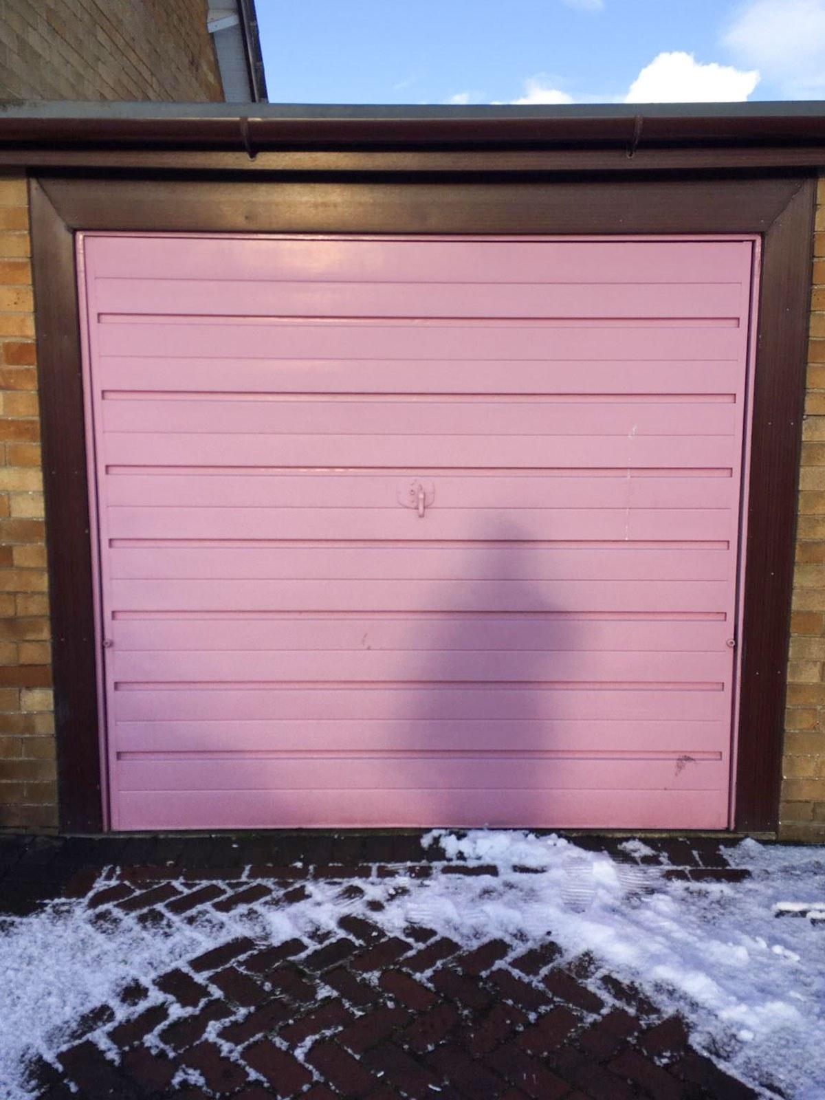 Green Single-Skin Steel Roller Garage Door, Preston