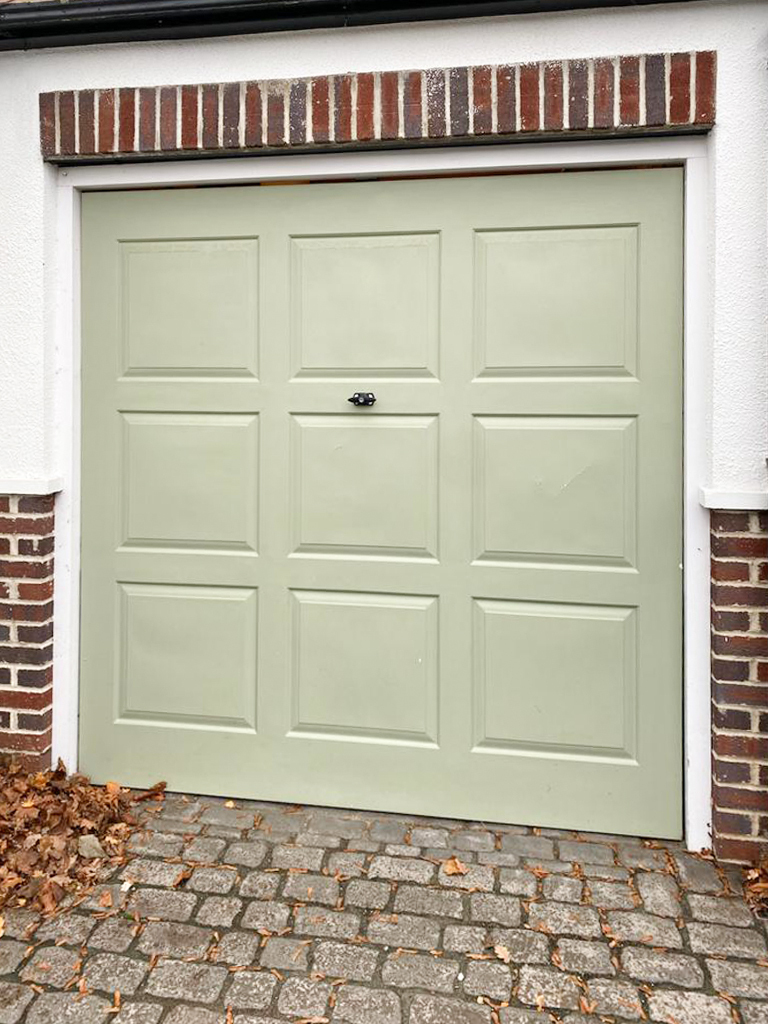 Insulated Roller Garage Door in Light Grey, Preston