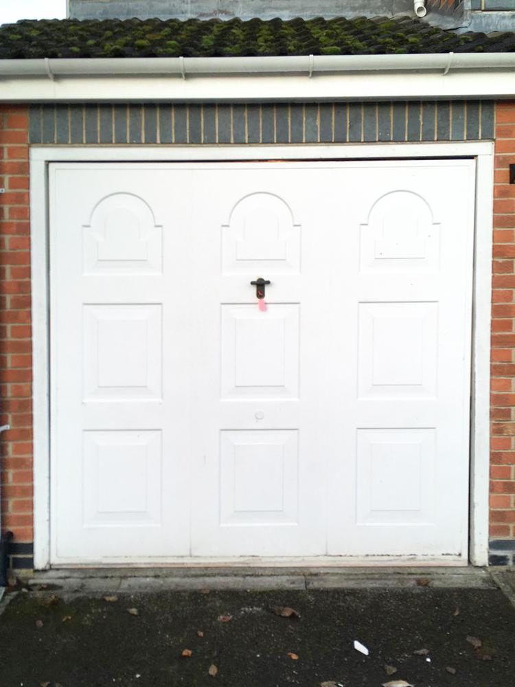 Insulated Roller Garage Door in White, Preston
