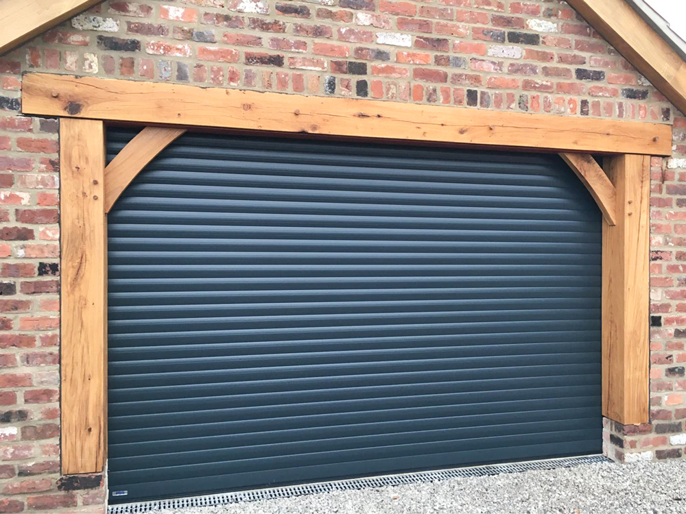 Insulated Roller Garage Doors in Anthracite Grey, Wigan