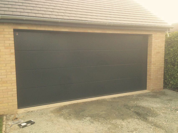 Premium Insulated Sectional Garage Door - Large Ribbed