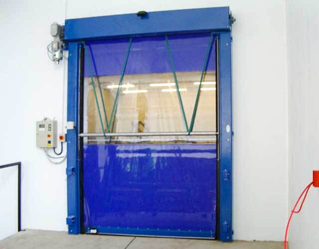 Oxley Commercial Shutters High Speed Door Blue
