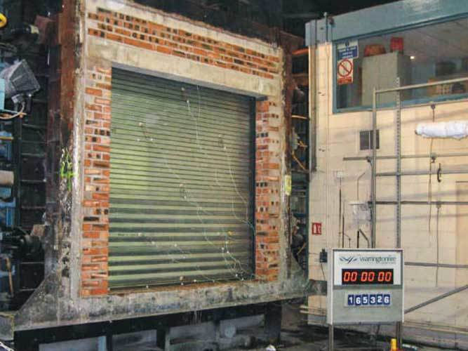 Oxley Fire Shutters Before Test