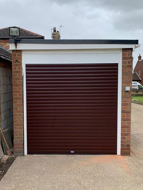 Insulated Roller Garage Door in Brown, Bolton