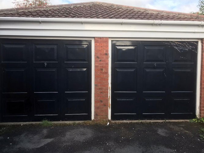 Pair of Insulated Roller Garage Doors, Bury