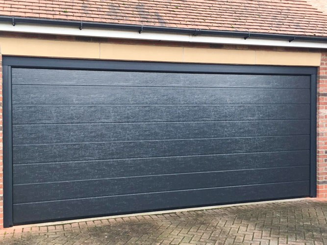 M-Rib Insulated Ribbed Sectional Garage Door, Bridlington