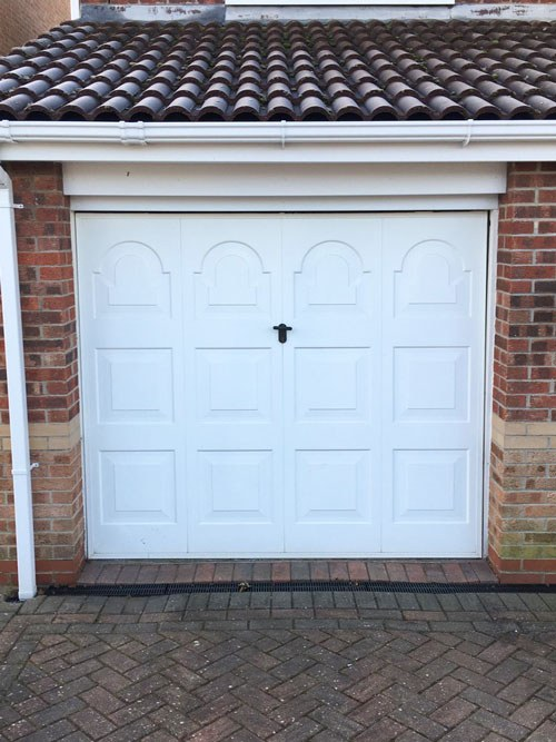 L-Rib Insulated Ribbed Sectional Garage Door, Scunthorpe