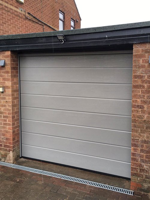 Centre Ribbed Insulated Sectional Garage Door, Sheffield