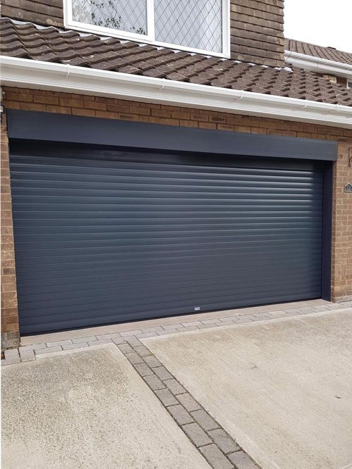 Insulated Roller Garage Door in Anthracite Grey, Grimsby