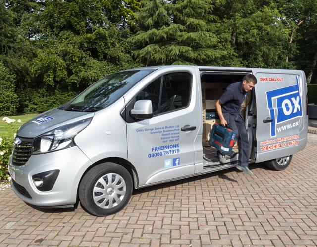 Oxley Garage Doors About Service Van