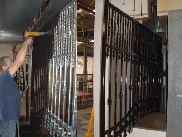 Oxley Gates Metal Process Powder Coating