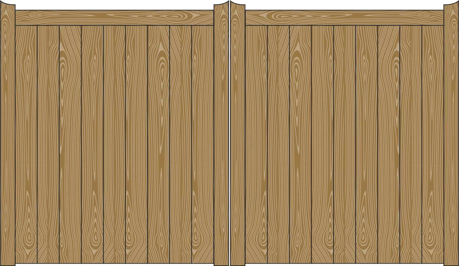 Oxley Gates Wooden Beverley illustration