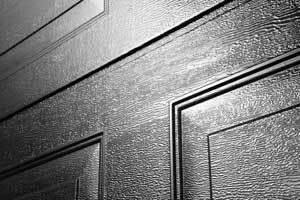 Oxley Georgian Sectional Garage Door Woodgrain Texture Black