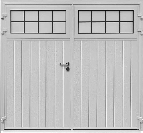 Traditional Standard Ribbed Vertical - Woodgrain White - Mock Leaded-Effect
