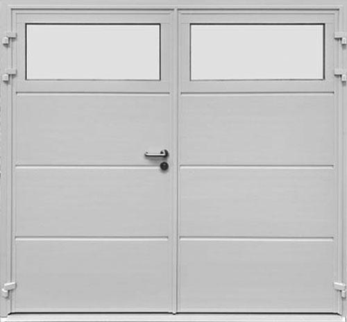 Traditional Solid Horizontal - Woodgrain White - Plain Window Option