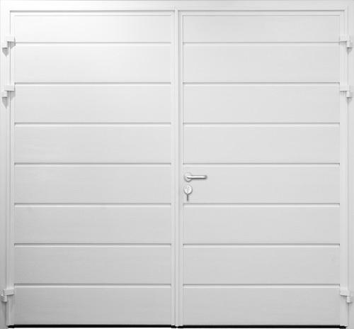 Centre Ribbed Horizontal - Woodgrain White