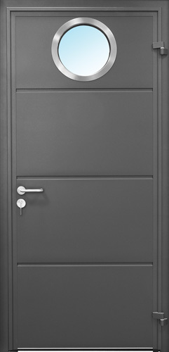 Solid Horizontal - Anthracite Grey with Porthole window