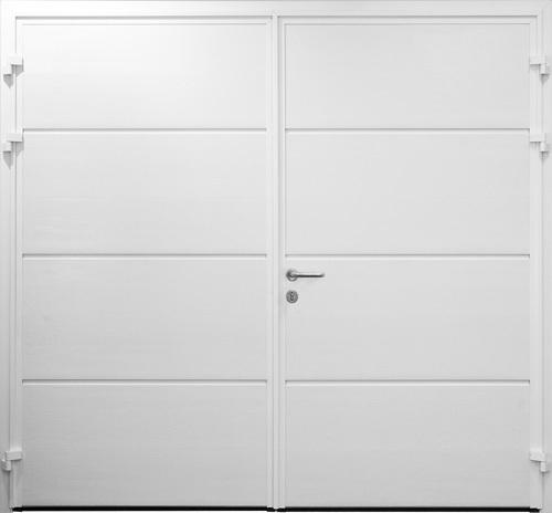 Solid Horizontal - Woodgrain White