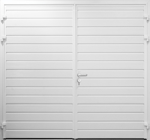 Standard Ribbbed Horizontal - Woodgrain White