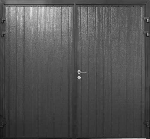 Standard Ribbed Vertical - Woodgrain Jet Black