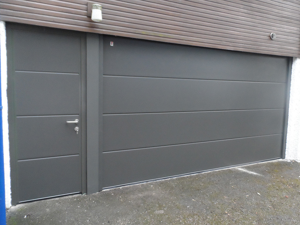 Anthracite Insulated Sectional Garage Door
