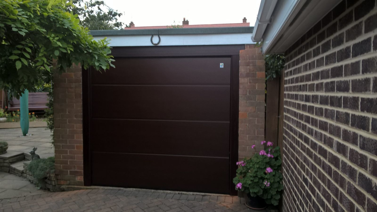 Large Ribbed Sectional Garage Door