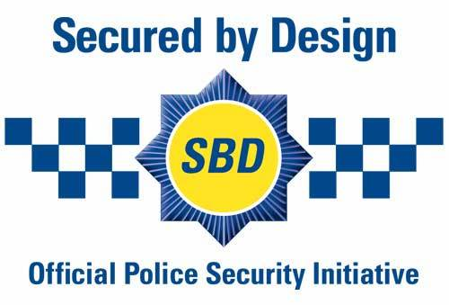 Oxley Secured By Design logo Security grilles