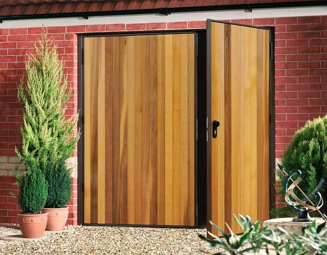 Oxley Timber Side Hinged Garage Doors
