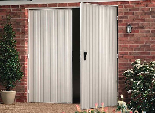 Steel Side Hinged Garage Doors