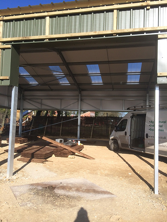 Commercial Roller Shutters fitted to New Agricultural unit