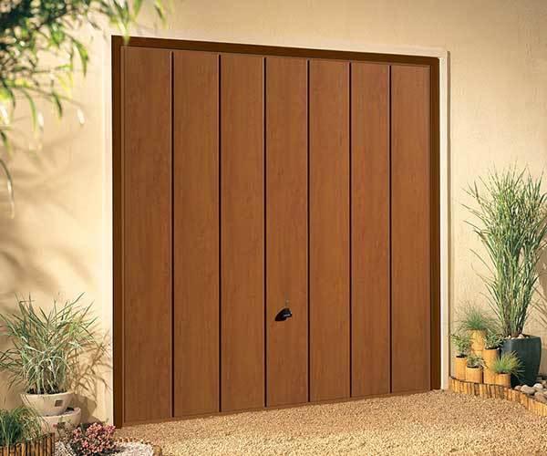 Steel Timber Effect Up Over Garage Doors