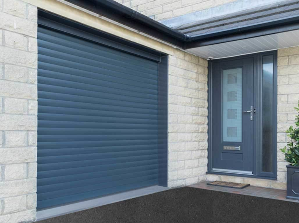 Oxley Insulated Roller Garage Door in Anthracite Grey Finish