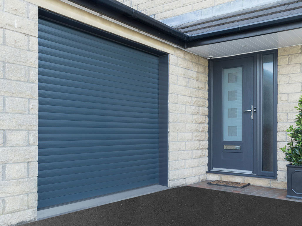 Oxley Insulated Roller Garage Door in Anthracite Grey to match other finishes on your home