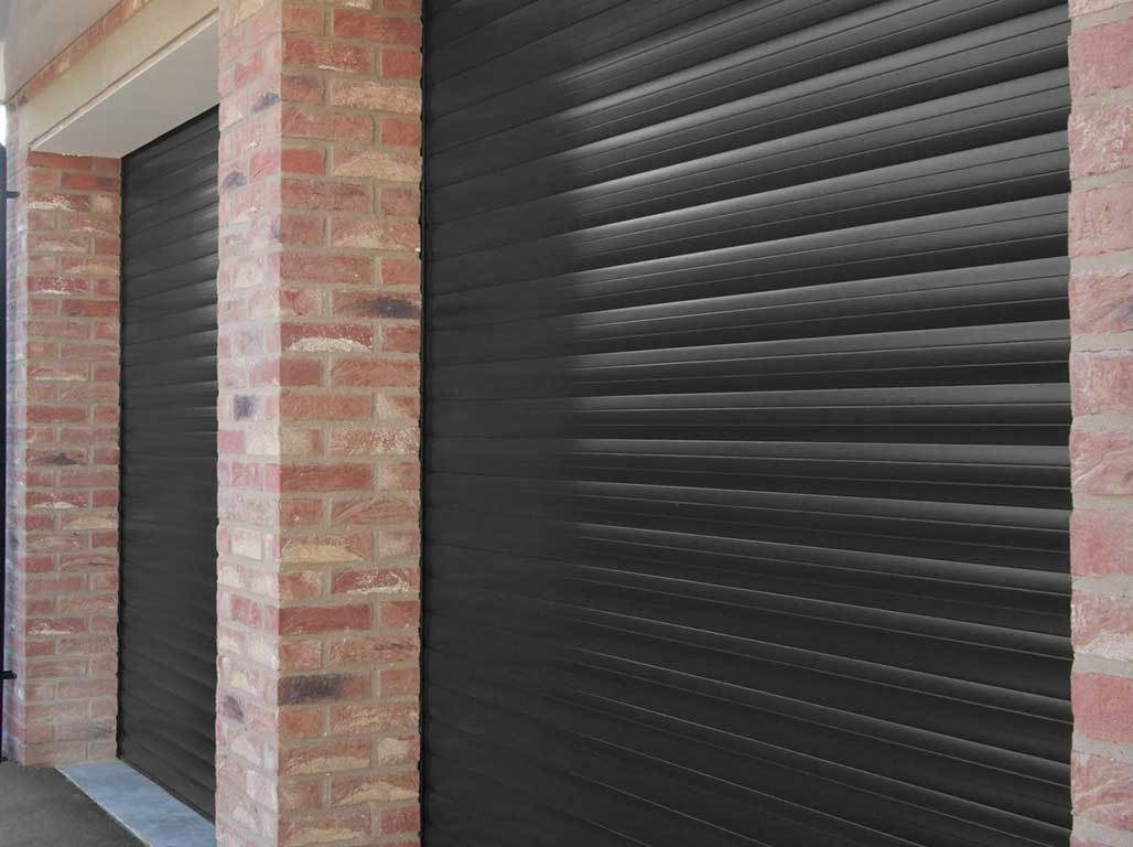 Oxley Insulated Roller Garage Door in Black Finish