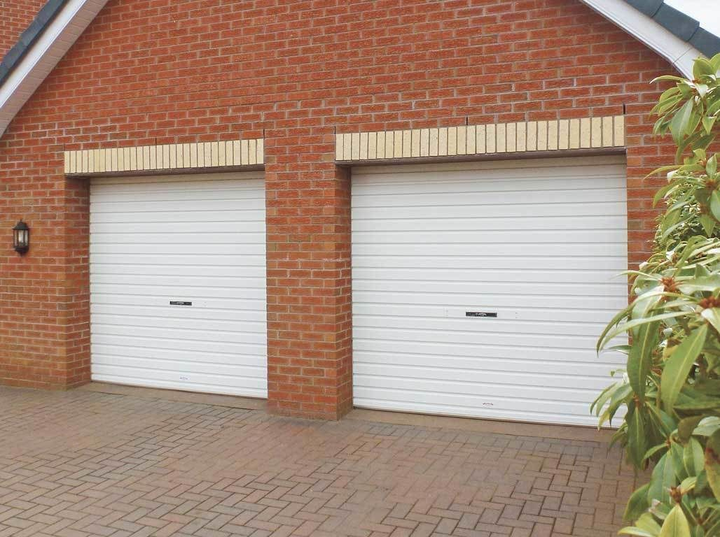 Oxley Single Skin Roller Garage Door in Golden White Finish