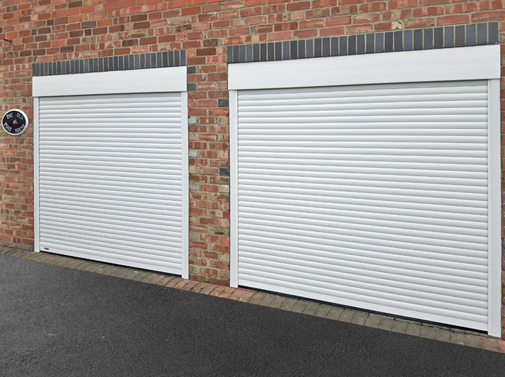 Oxley twin compact insulated roller garage door - the low headroom solution