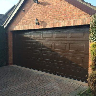 Georgian Insulated Sectional Garage Door, Lincoln