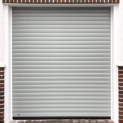 Insulated Roller Garage Door in Light Grey, Preston