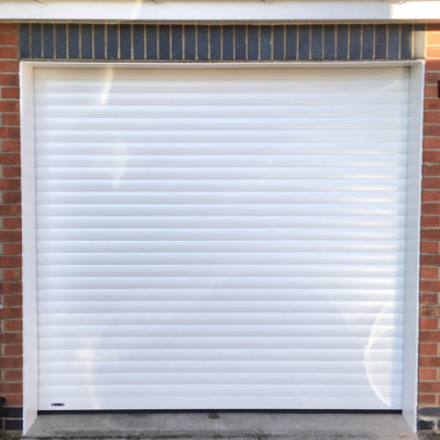 Insulated Roller Garage Door in White, Preston