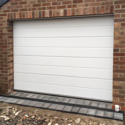 Insulated Sectional Garage Door in White, Wigan