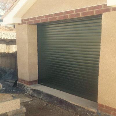 Green Insulated Roller Garage Door, Hull