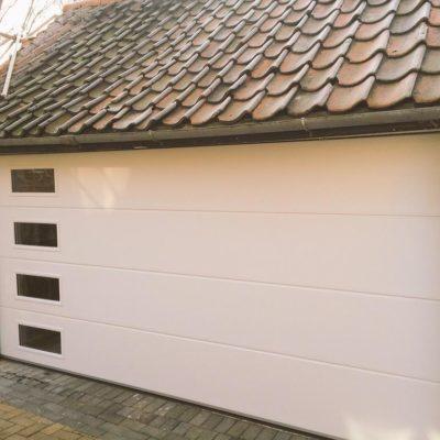 Designer Insulated Sectional Garage Door, Lincoln