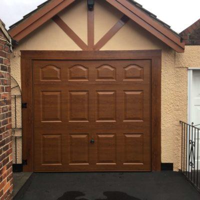 Cathedral Steel Up & Over Garage Door, Hull