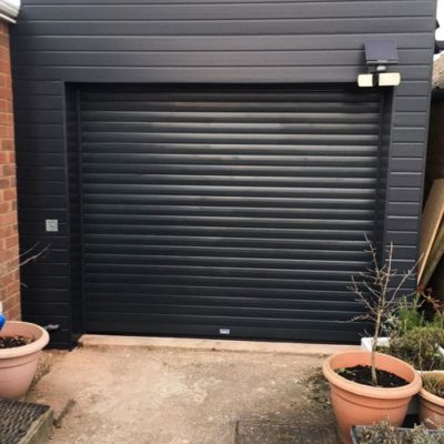 Anthracite Grey Insulated Roller Garage Door, Scunthorpe