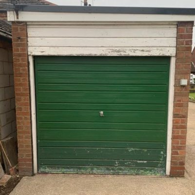 Insulated Roller Garage Door in Brown, Wigan