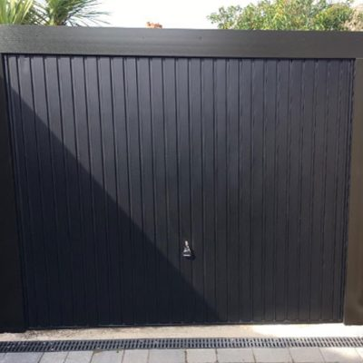 Carlton Steel Up & Over Garage Door in Black, Warrington
